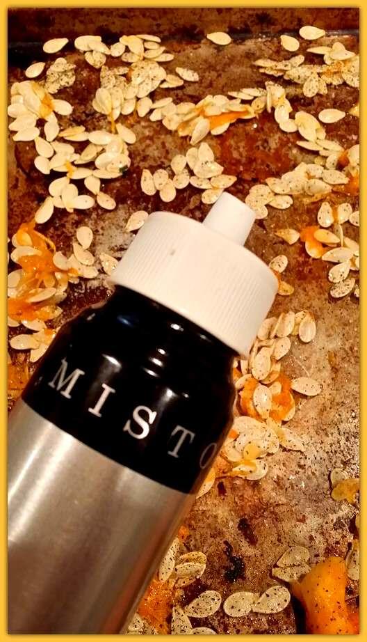 spray pumpkin seeds
