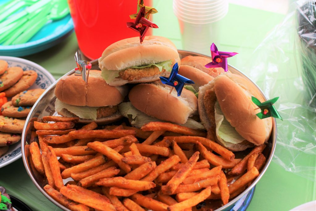 spring party chicken sliders
