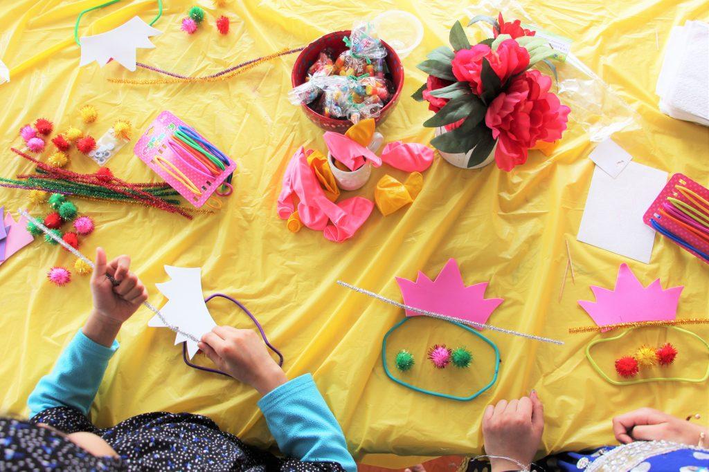 spring party garden fairy crowns