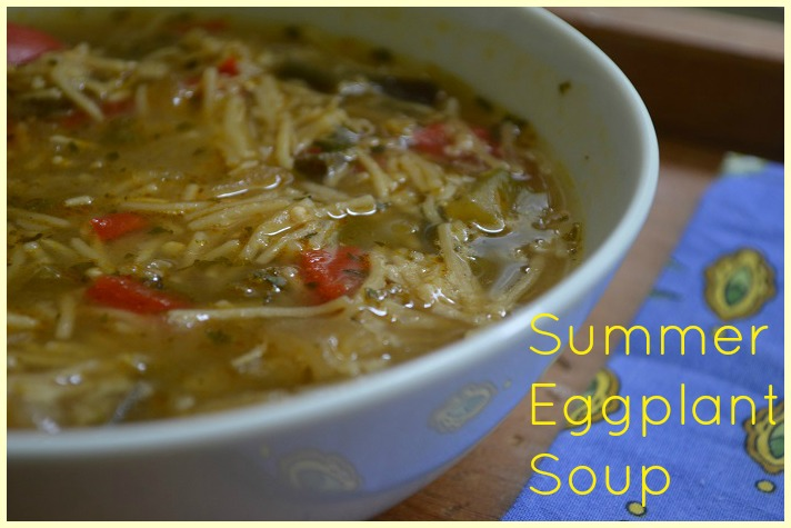 summer eggplant soup with title