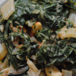 swiss chard with cashews