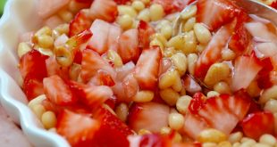 Pine Nut, Honey and Strawberry Dish