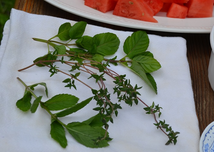 using fresh herbs