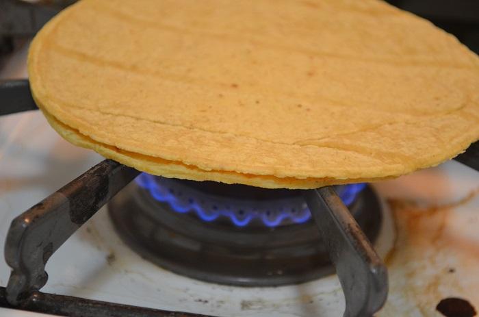 warm the tortillas