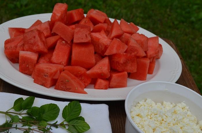 watermelon on table